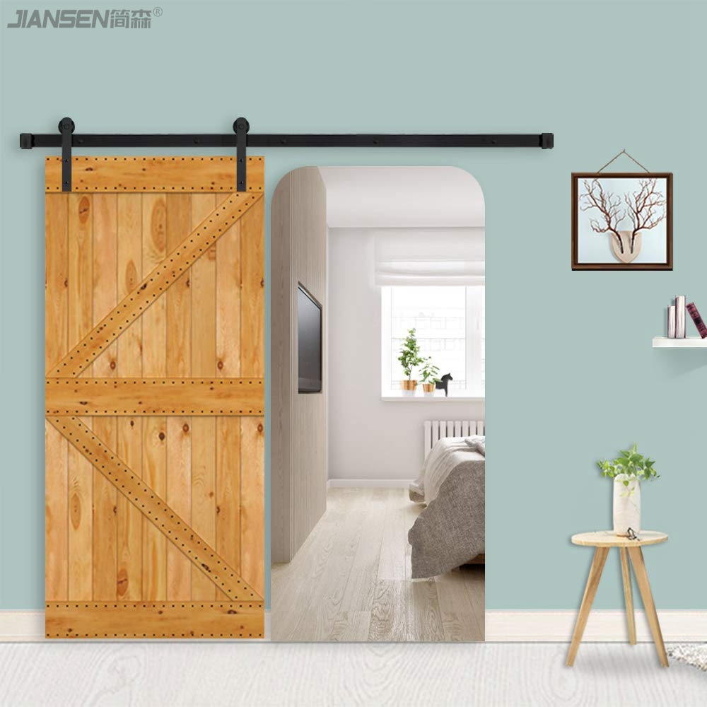 Wholesale 6.6ft sliding barn door hardware kits -HM-2001